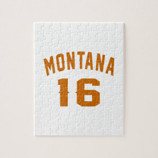 Montana 16 Birthday Designs Jigsaw Puzzle