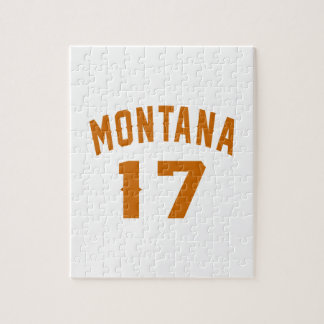 Montana 17 Birthday Designs Jigsaw Puzzle
