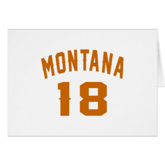 Montana 18 Birthday Designs Card