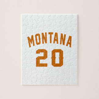 Montana 20 Birthday Designs Jigsaw Puzzle