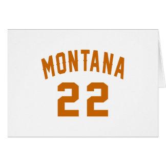 Montana 22 Birthday Designs Card