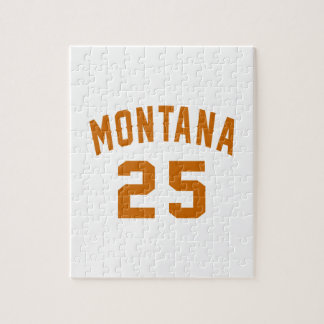 Montana 25 Birthday Designs Jigsaw Puzzle