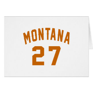 Montana 27 Birthday Designs Card