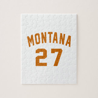 Montana 27 Birthday Designs Jigsaw Puzzle