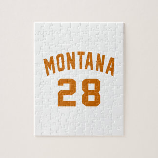 Montana 28 Birthday Designs Jigsaw Puzzle