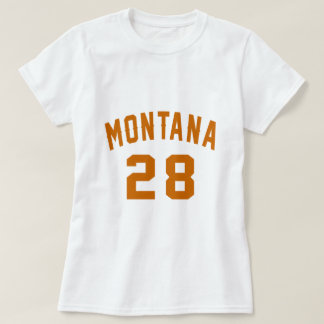 Montana 28 Birthday Designs T-Shirt