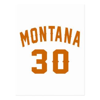 Montana 30 Birthday Designs Postcard
