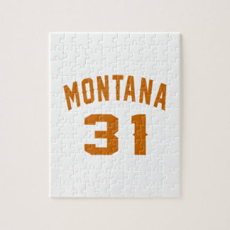 Montana 31 Birthday Designs Jigsaw Puzzle