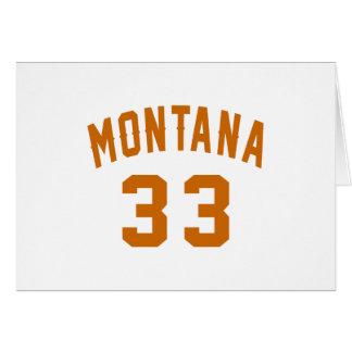 Montana 33 Birthday Designs Card