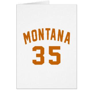 Montana 35 Birthday Designs Card