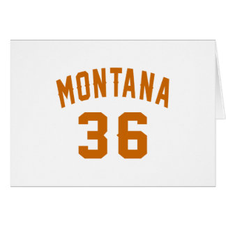 Montana 36 Birthday Designs Card