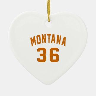 Montana 36 Birthday Designs Ceramic Ornament