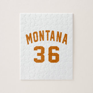 Montana 36 Birthday Designs Jigsaw Puzzle