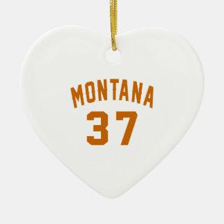 Montana 37 Birthday Designs Ceramic Ornament