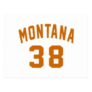 Montana 38 Birthday Designs Postcard