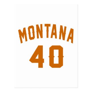 Montana 40 Birthday Designs Postcard