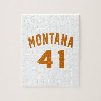 Montana 41 Birthday Designs Jigsaw Puzzle