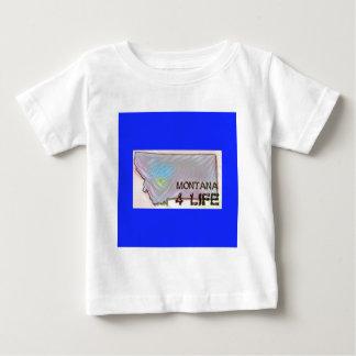 """Montana 4 Life"" State Map Pride Design Baby T-Shirt"