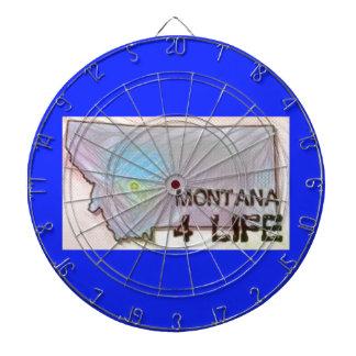 """Montana 4 Life"" State Map Pride Design Dartboard"