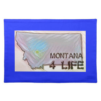 """Montana 4 Life"" State Map Pride Design Placemat"
