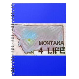 """Montana 4 Life"" State Map Pride Design Spiral Notebook"