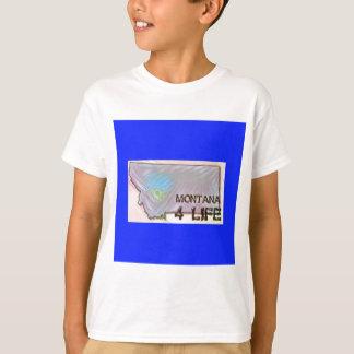 """Montana 4 Life"" State Map Pride Design T-Shirt"