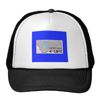 """Montana 4 Life"" State Map Pride Design Trucker Hat"