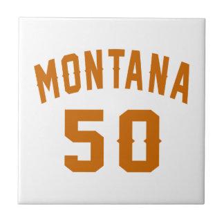 Montana 50 Birthday Designs Ceramic Tiles