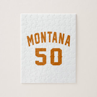 Montana 50 Birthday Designs Jigsaw Puzzle