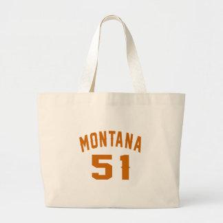 Montana 51 Birthday Designs Large Tote Bag