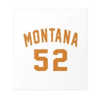 Montana 52 Birthday Designs Notepad