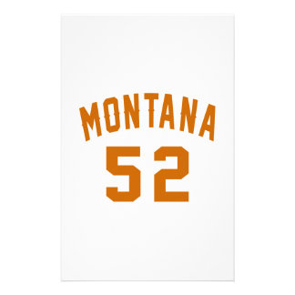 Montana 52 Birthday Designs Stationery