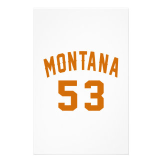Montana 53 Birthday Designs Stationery
