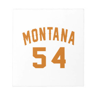 Montana 54 Birthday Designs Notepad