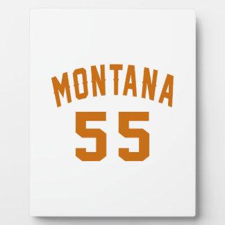 Montana 55 Birthday Designs Plaque