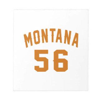 Montana 56 Birthday Designs Notepad