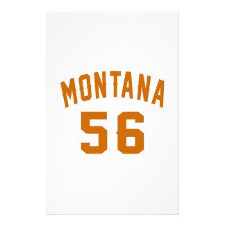 Montana 56 Birthday Designs Stationery