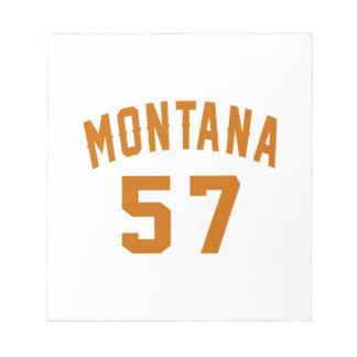 Montana 57 Birthday Designs Notepad