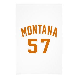 Montana 57 Birthday Designs Stationery