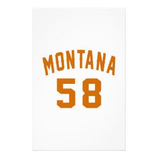Montana 58 Birthday Designs Stationery