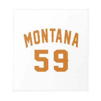 Montana 59 Birthday Designs Notepad