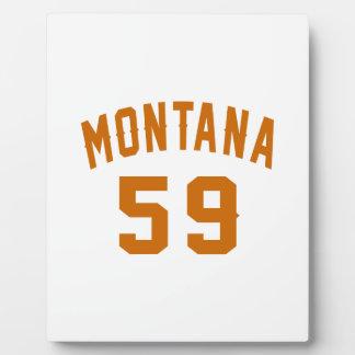 Montana 59 Birthday Designs Plaque