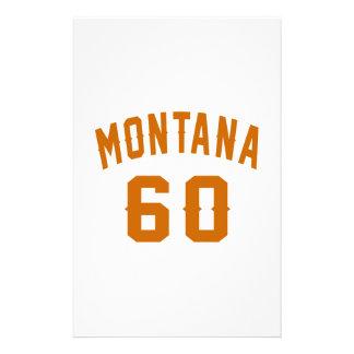 Montana 60 Birthday Designs Stationery