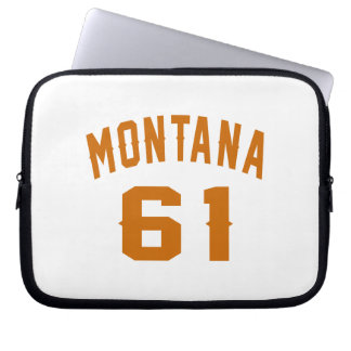Montana 61 Birthday Designs Laptop Sleeve