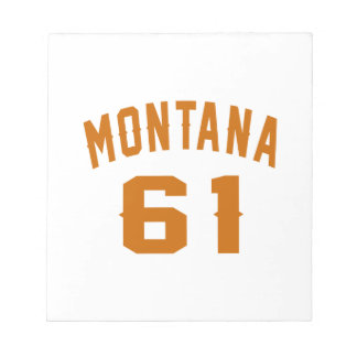 Montana 61 Birthday Designs Notepad