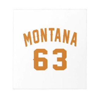 Montana 63 Birthday Designs Notepad