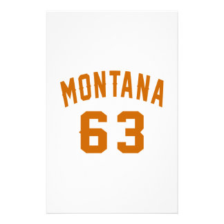 Montana 63 Birthday Designs Stationery