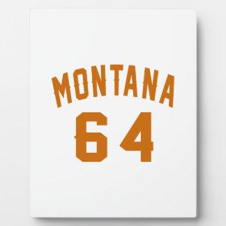 Montana 64 Birthday Designs Plaque