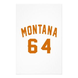 Montana 64 Birthday Designs Stationery