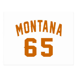 Montana 65 Birthday Designs Postcard